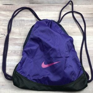Nike Purple Drawstring Backpack